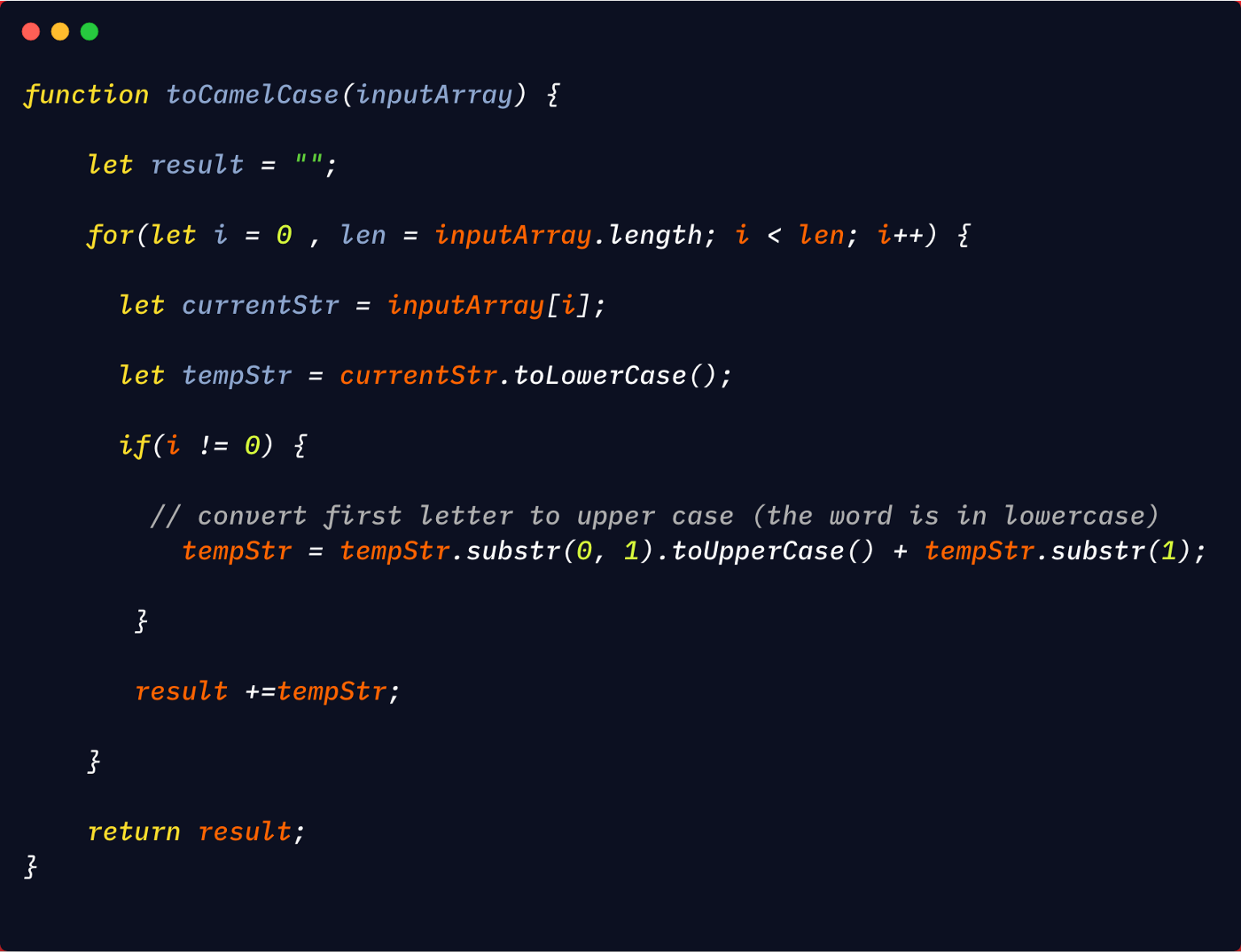 Converting a string to camelCase in Javascript   by Javascript ...