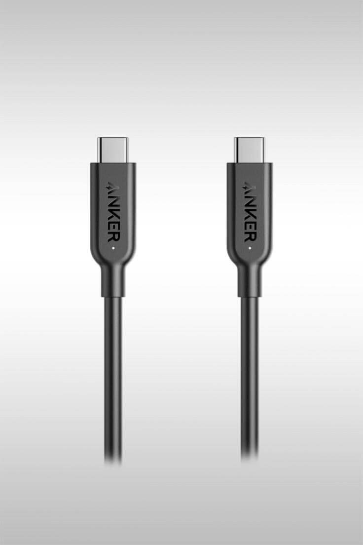 Powerline II USB-C to USB-C 3.1 Gen 2 Cable (AK-A8485011)—Image Credit: Anker