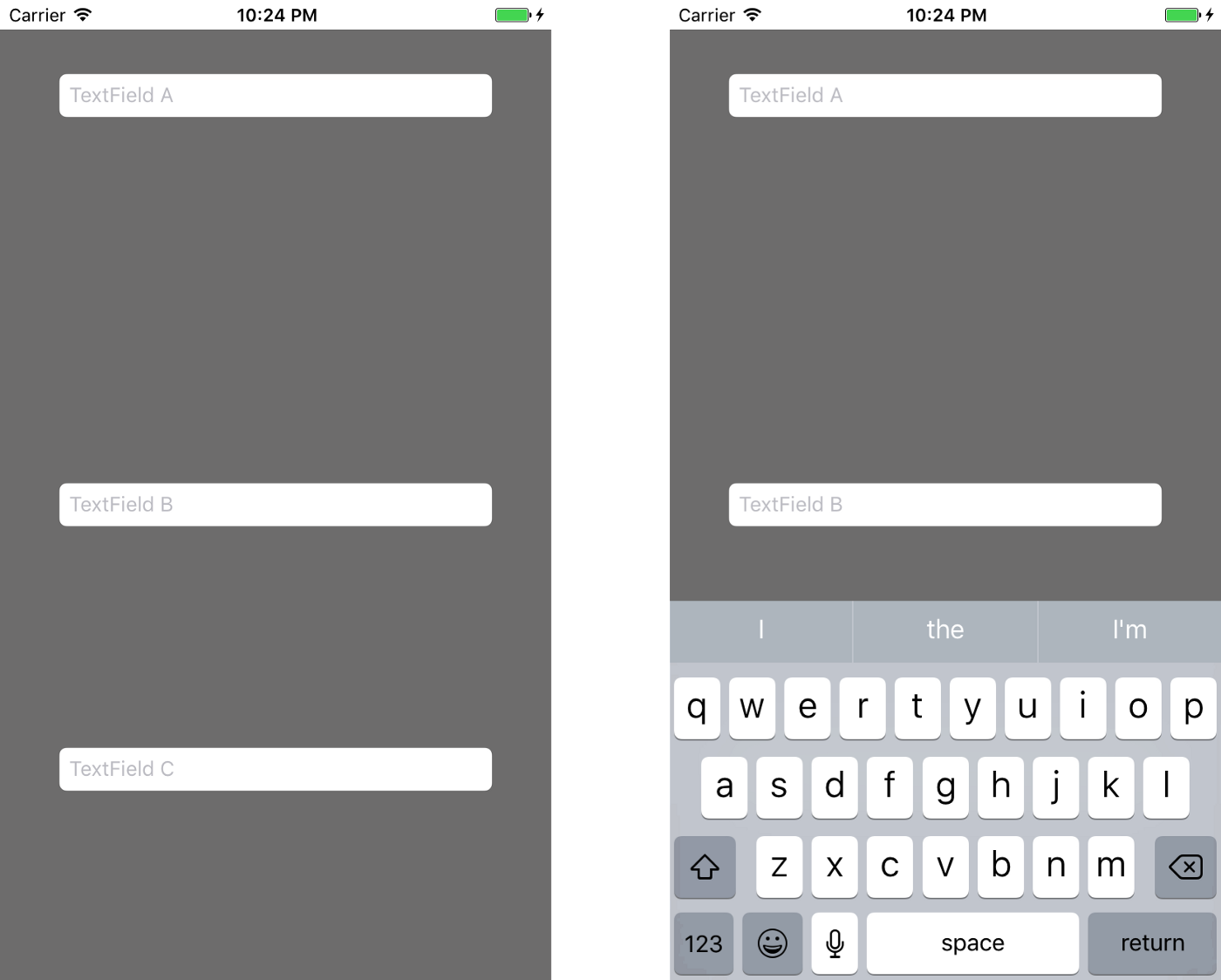 Autolayout for ScrollView + Keyboard Handling in iOS