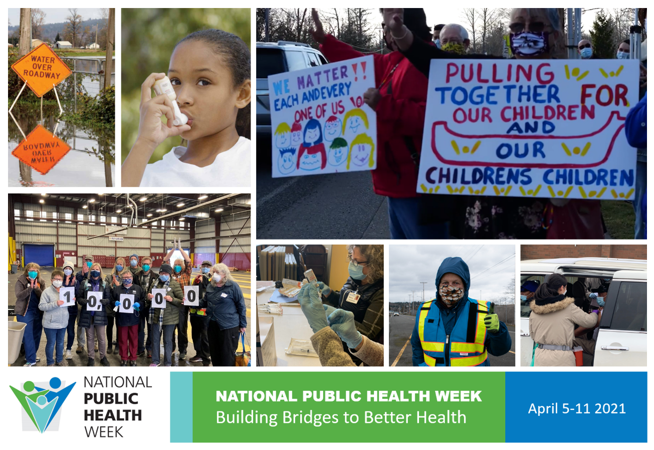 Collage of images showing public health across Washington