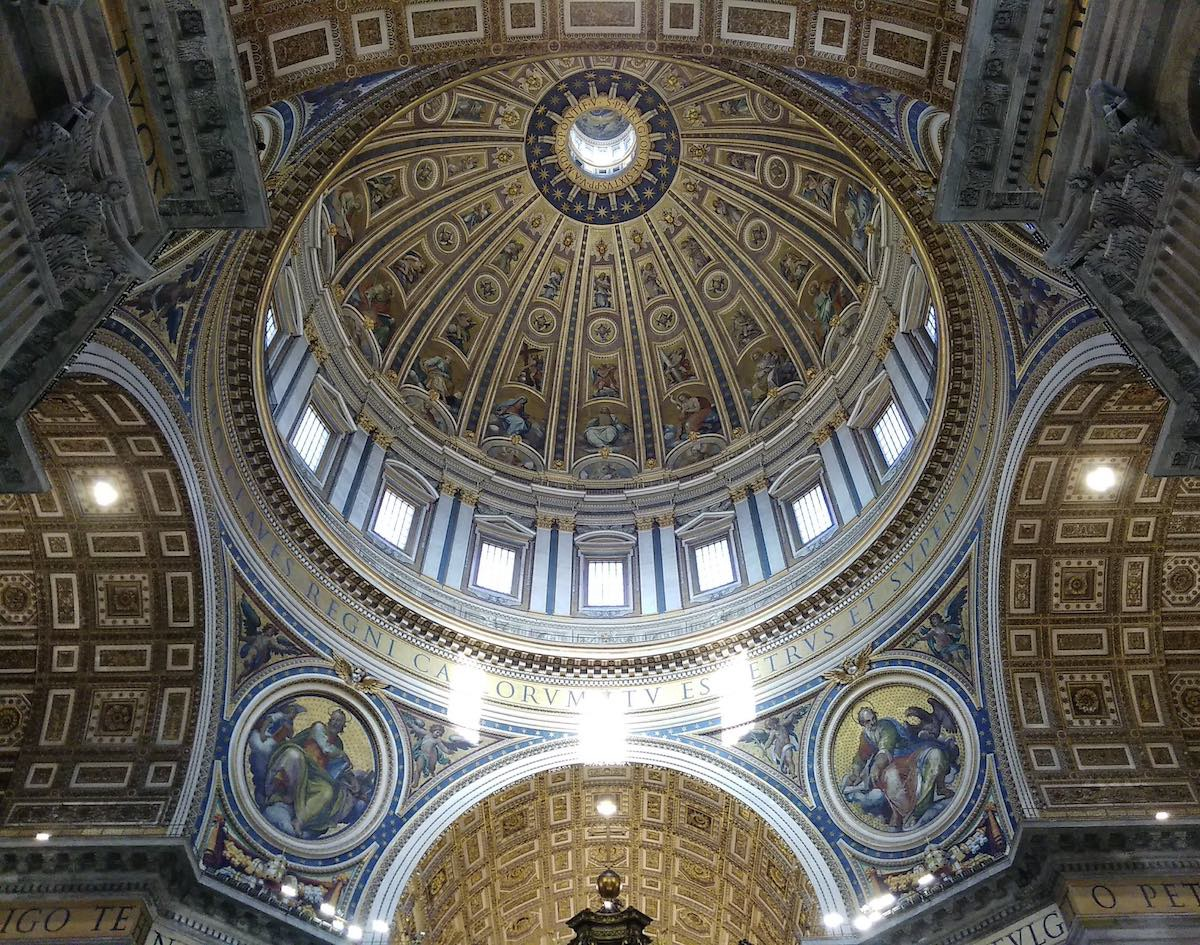 photo of St. Peter Basilica dome, the tallest in the world