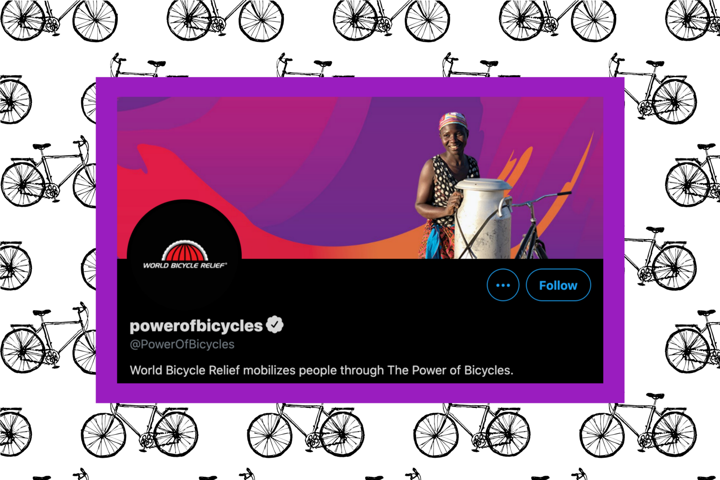 Power of Bicycles' Twitter page.