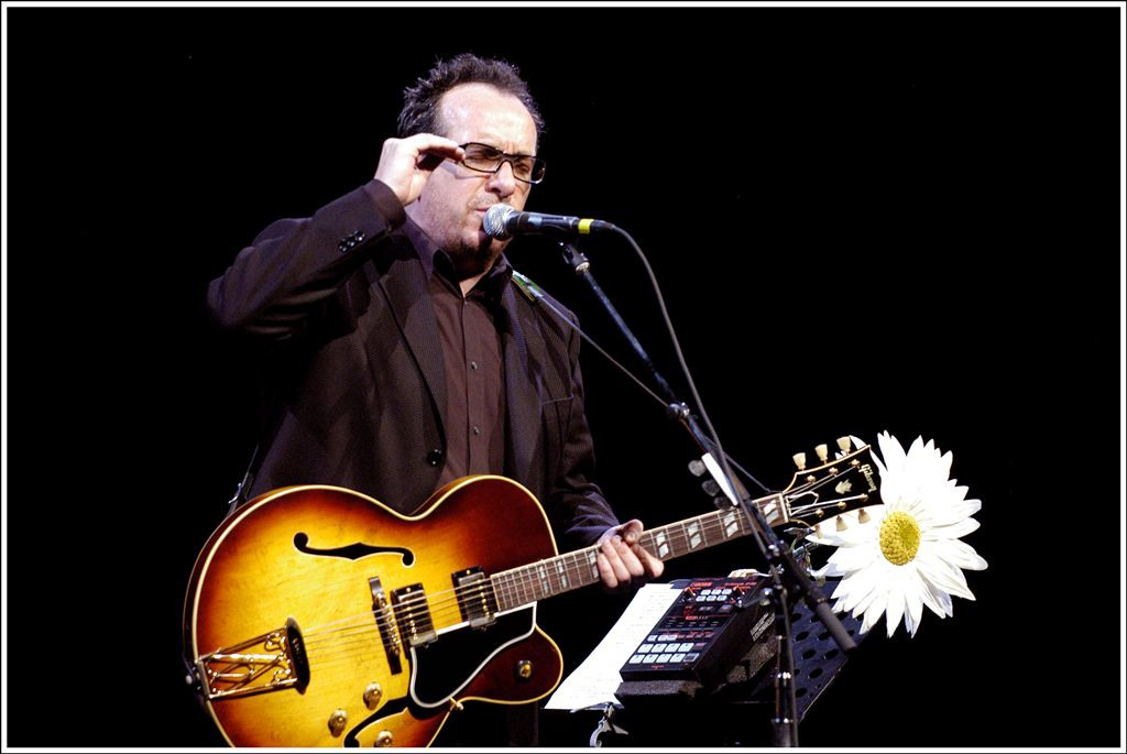 Elvis Costello on stage in 2006