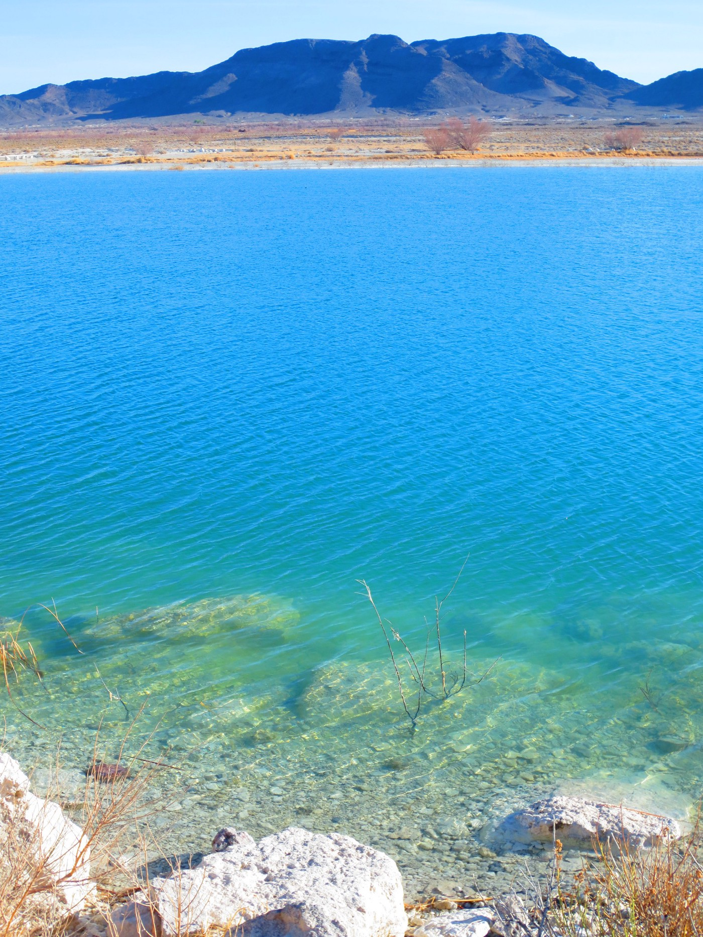 a lake featuring crystal blue water