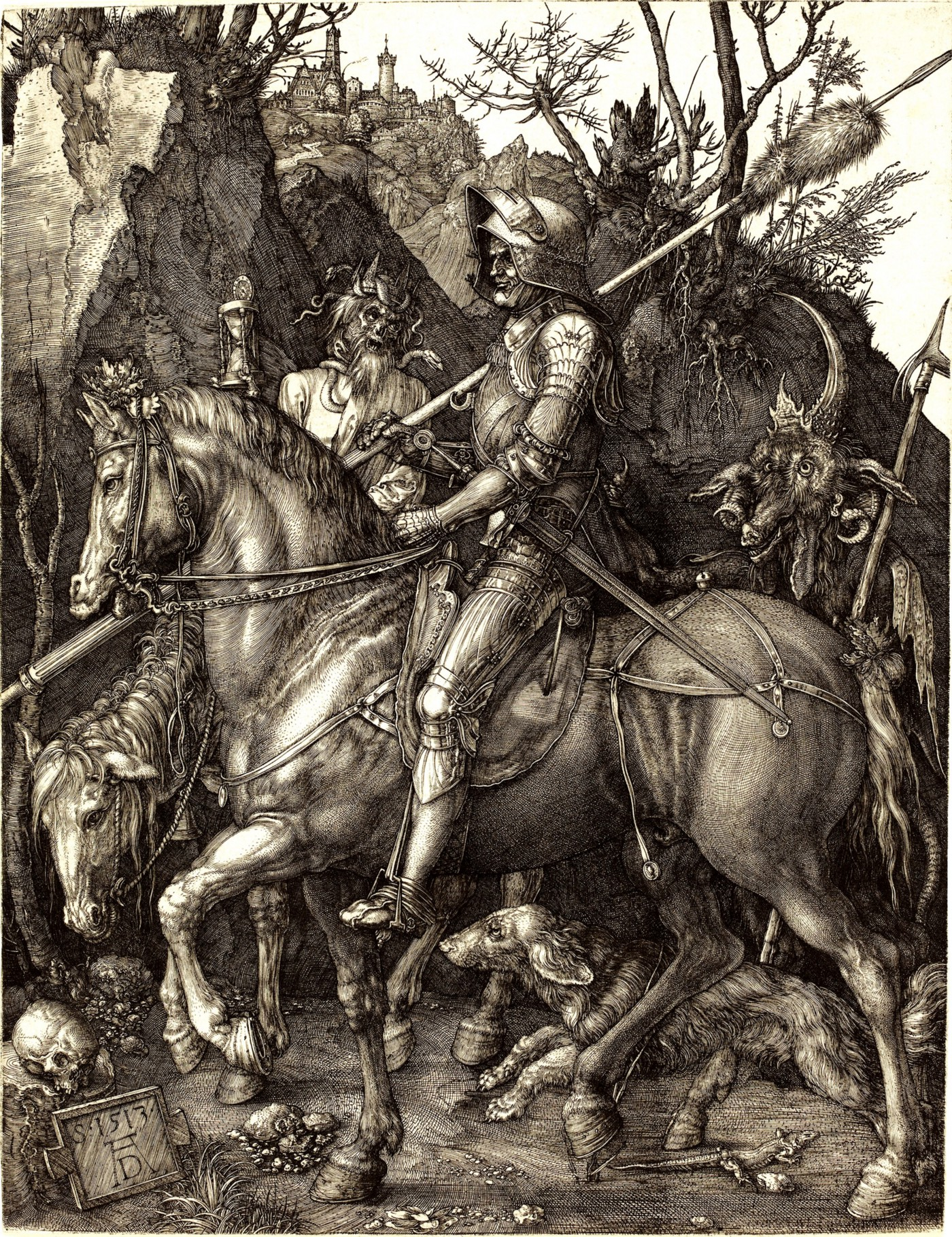 Albrecht Dürer, Knight, Death, and the Devil, 1513
