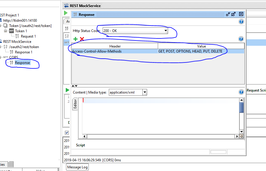 How to deal with CORS in SOAP UI mock services or any other