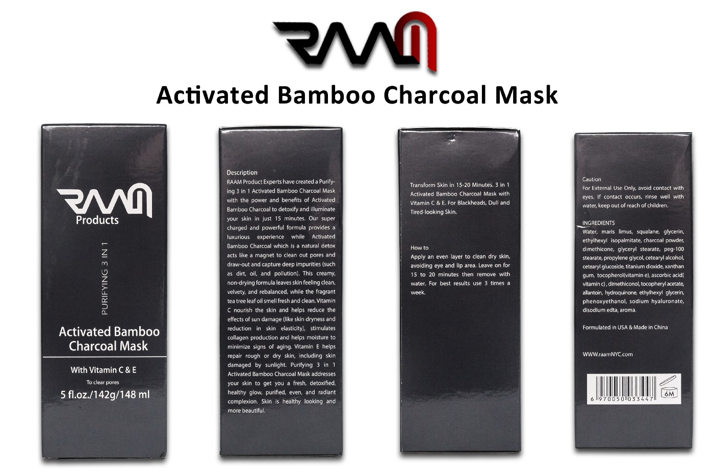 Experience clear improvement of your Face with Activated Bamboo