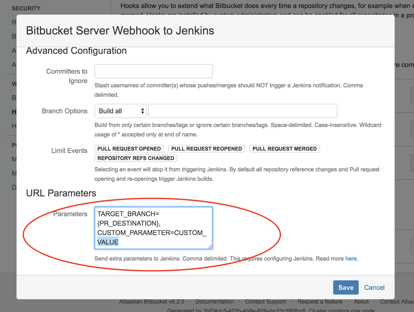 Webhook To Jenkins for Bitbucket 4 2 Support for URL Parameters