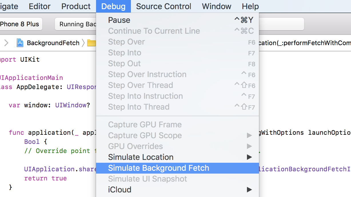 How to debug background fetch events on iOS - Livefront - Medium
