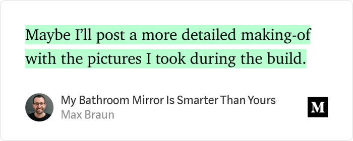 Smarter Mirrors and How They're Made - Max Braun - Medium