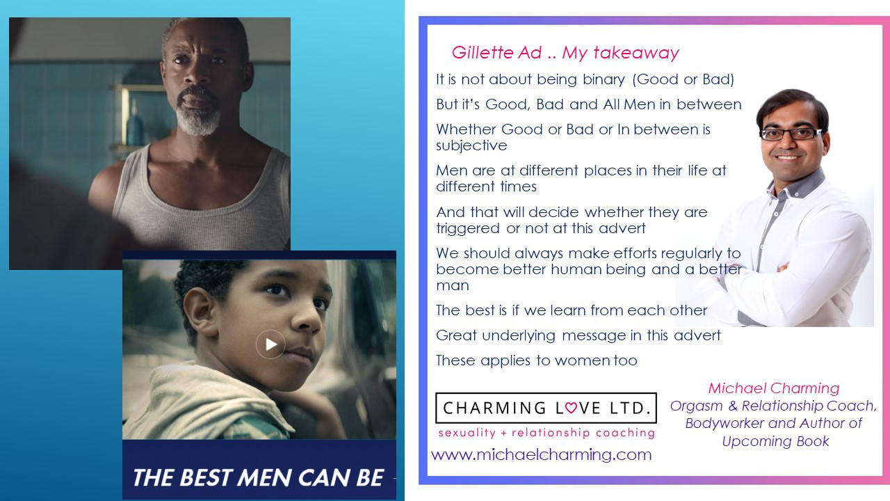 Gillette Ad Controversy and My Takeaway - Michael Charming