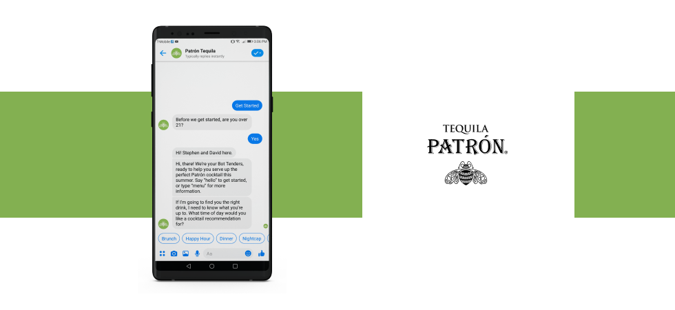 Chatbot Example for eСommerce: Patrón Tequila's Bot