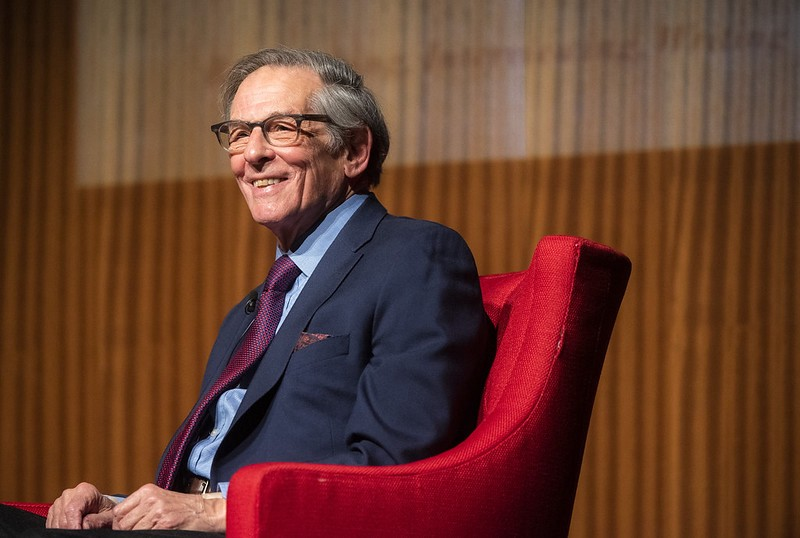 Robert Caro presenting his book, Working, in the LBJ Library.