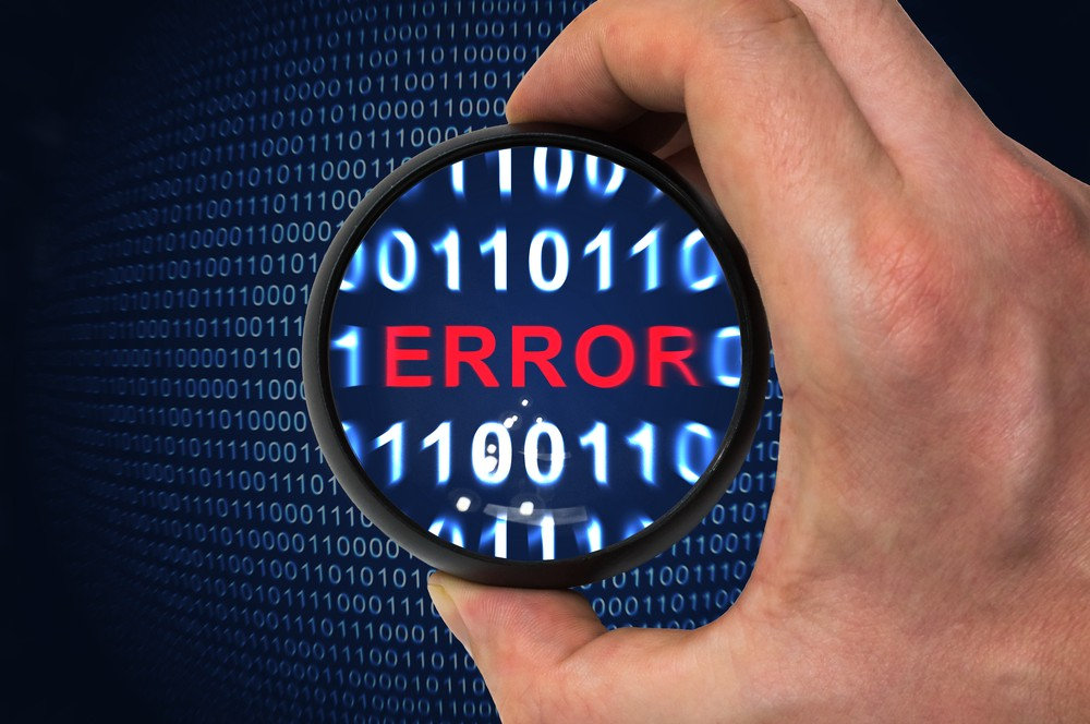 An image representing the word 'ERROR' in binary code