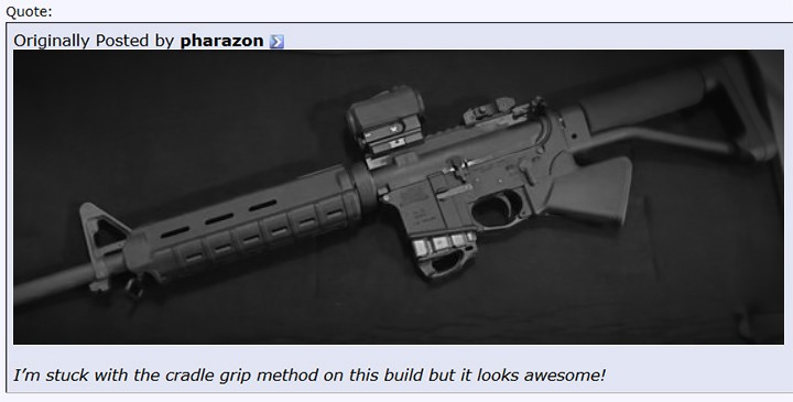 FAQ: Will your CRG-15 grip work with a fixed stock such as an A2