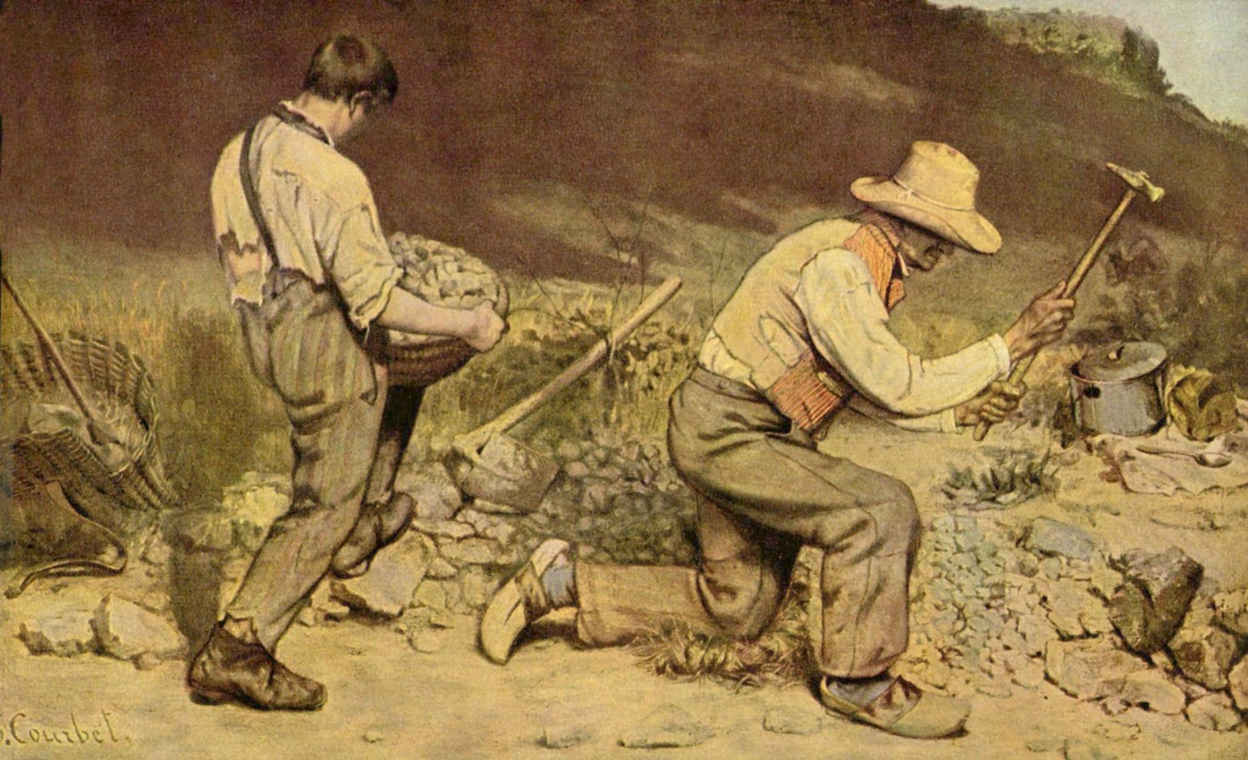 """Gustave Courbet's painting """"The Stone Breakers"""""""