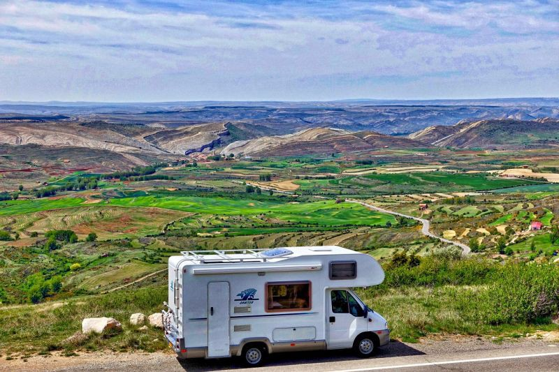 RV (Motorhome) will certainly keep you isolated but very mobile.
