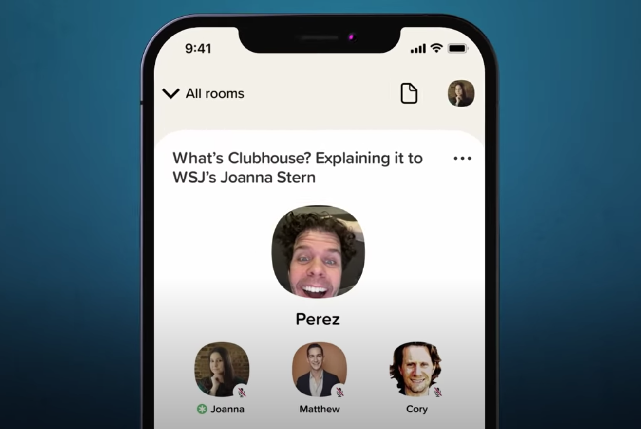 Clubhouse Screen Shot via Wall Street Journal — YouTube