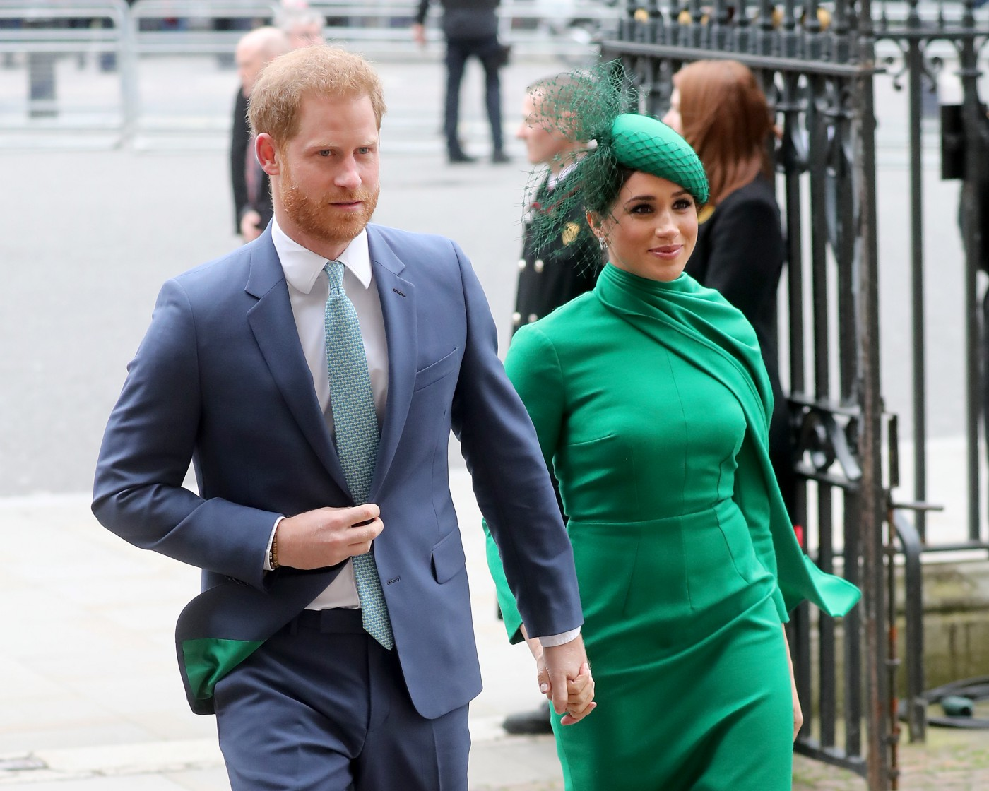Meghan Markle and Prince Harry arrive at an event in London in March 2020.