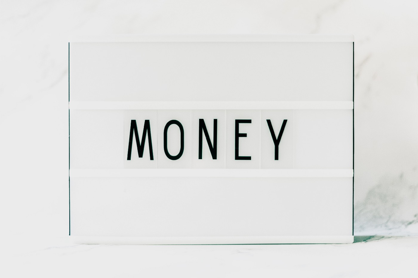 """home decoration with the word """"money"""""""