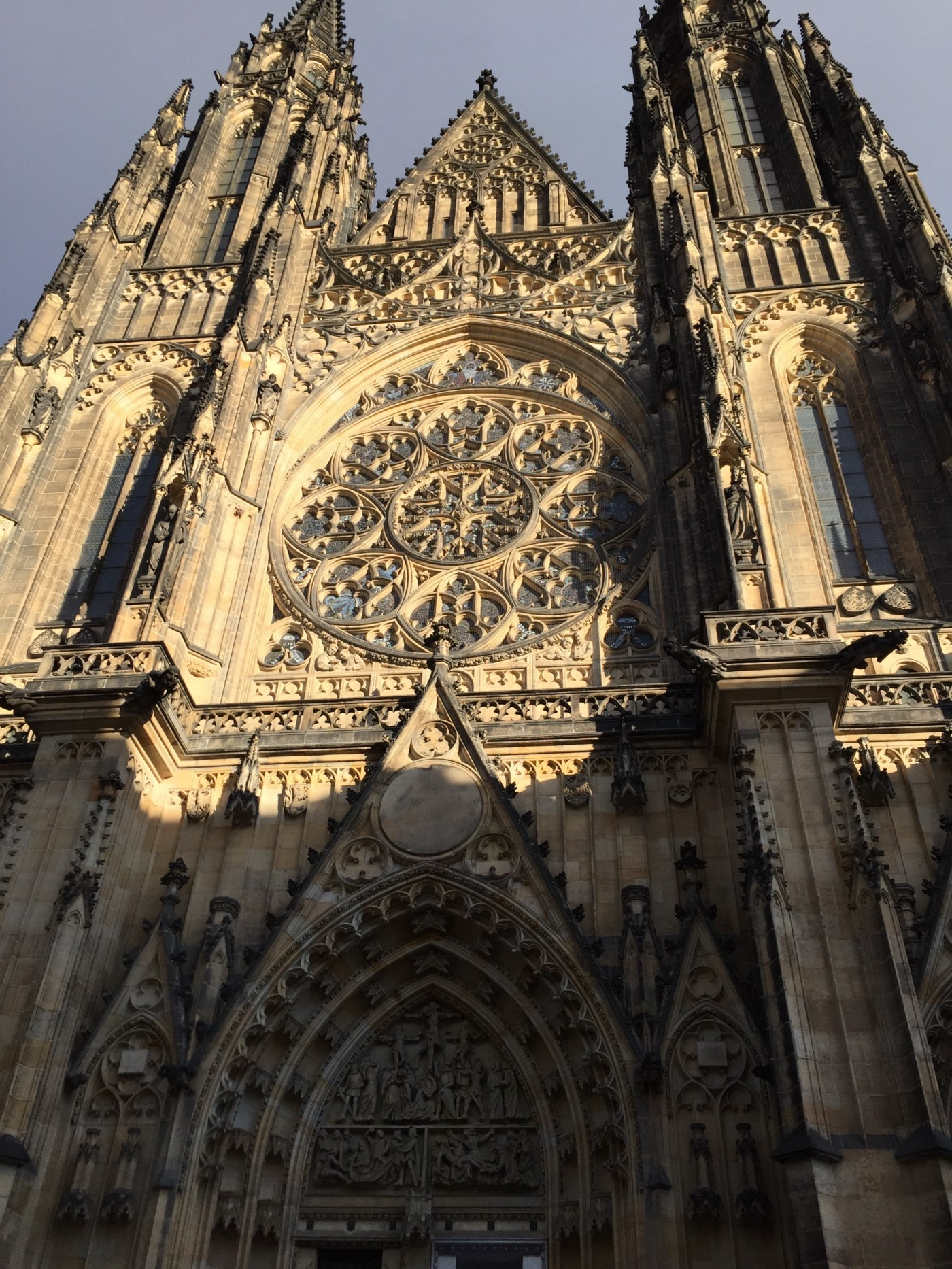 Gothic exterior of St Vitus Cathedral