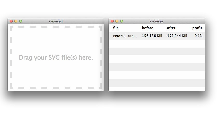 The SVG code is ready to be optimized
