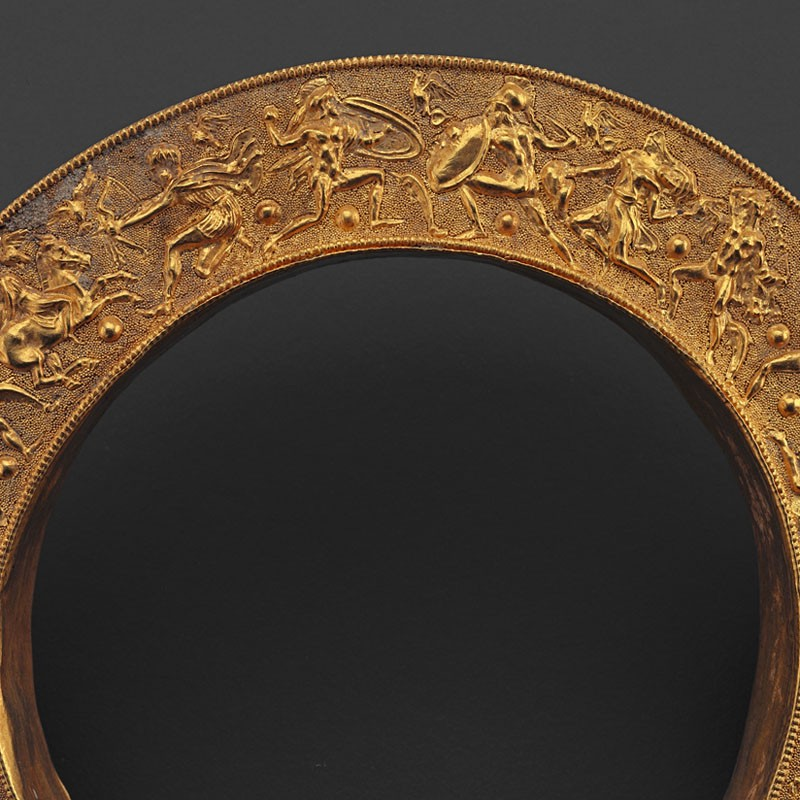 Hicham Aboutaam—picture of Greek Gold Cylindrical Stand