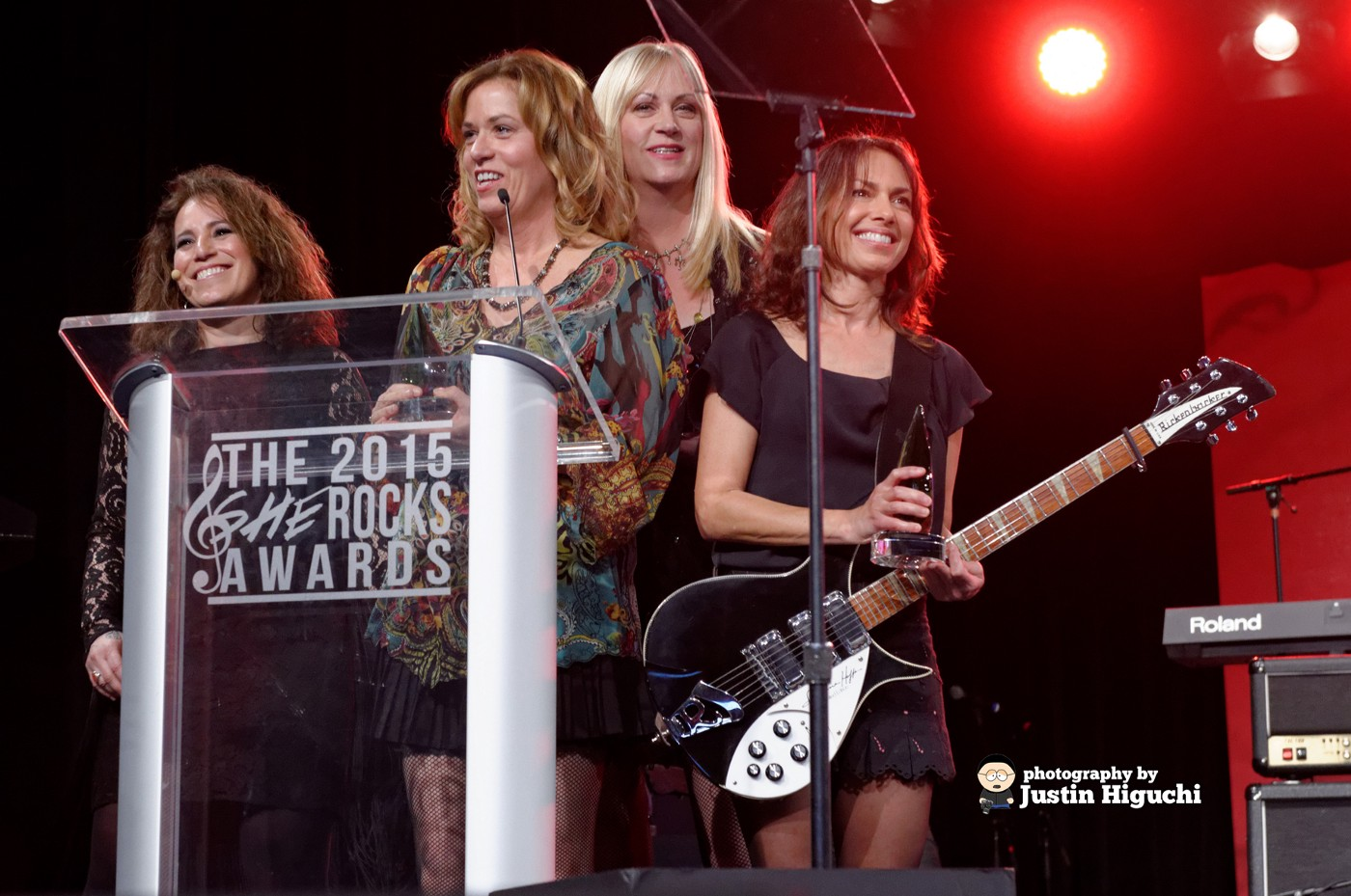 """The Bangles at the WiMN """"She Rocks"""" Awards at the Winter NAMM Show in Anaheim California on Friday January 23rd, 2015."""