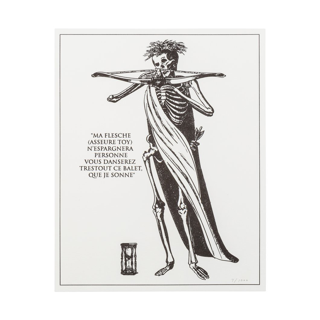 Order your own framed the dance of death print here this print designed to hang at eye level like the original engraving is meant to help you remember