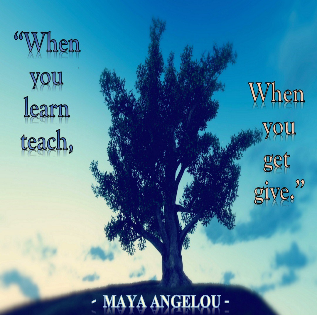 Photo of tree and Maya Angelou quote for Medium story on writing about life lessons, personal essays, and miscellaneous personal experiences.