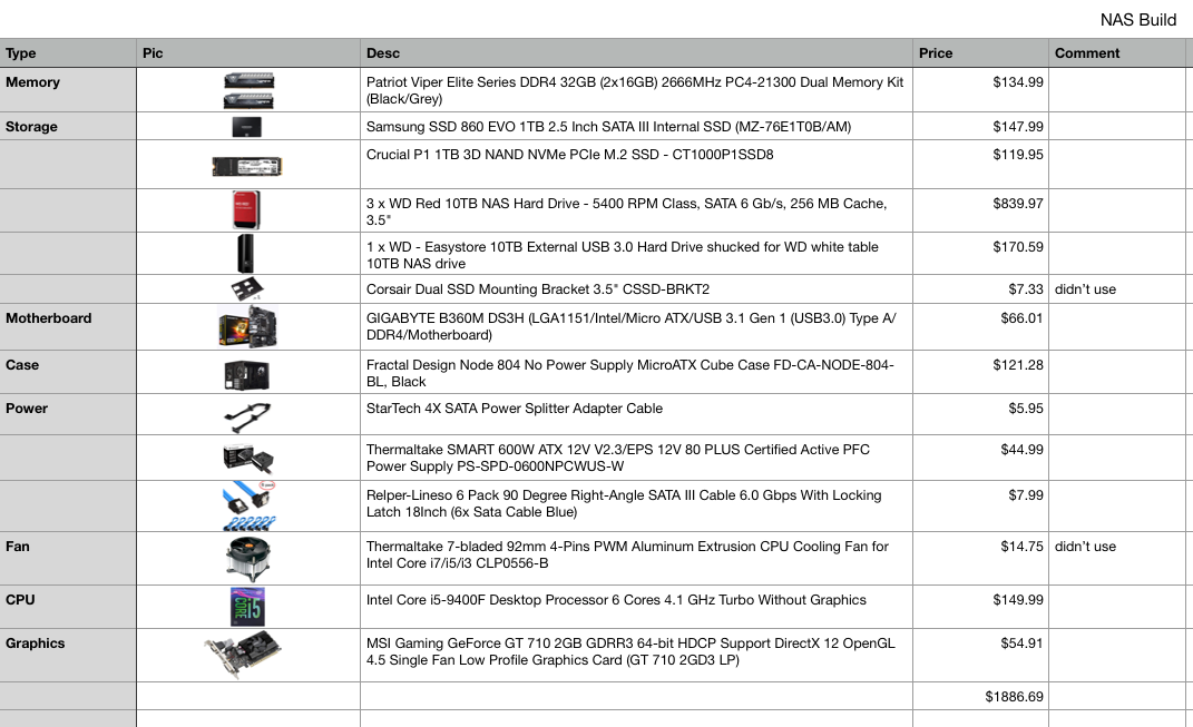 My $1886 69 NAS Build - Engineer's Notes