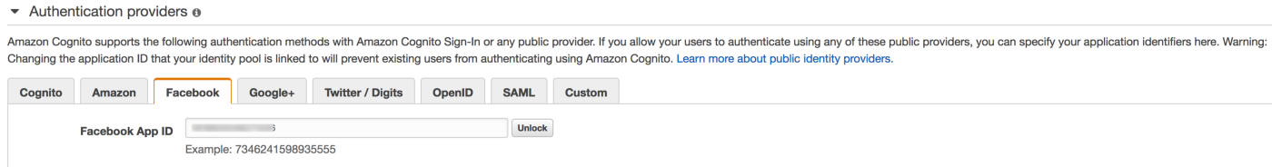 Facebook Login Using AWS Amplify and Amazon Cognito