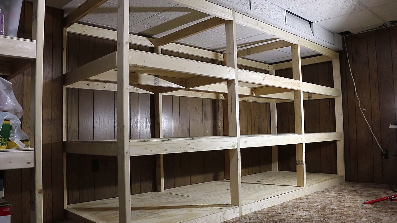 Giant Diy Shelves Use 2x4s Plywood And Pocket Hole By Andrew Reuter Project Lab Medium
