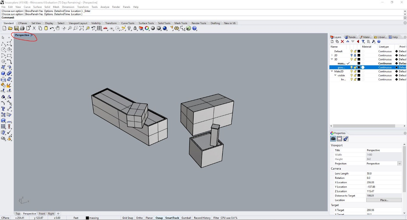 Rhino Tutorial: Customizing Perspective View Settings and Making