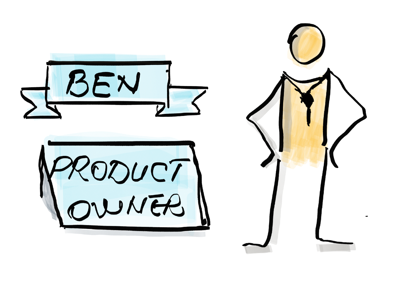 A product owner and his title and name—Ben