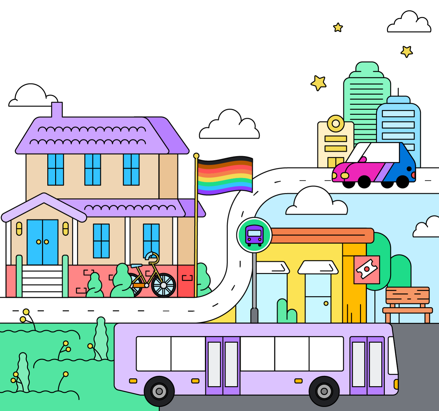 Big cities aren't the only places where queer communities can thrive, but access to transportation is key for small towns.