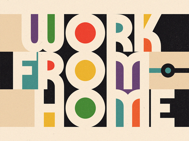 A illustartion of Work from home by Louie Mantia