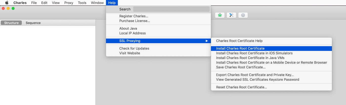 Install Charles Root Certificate