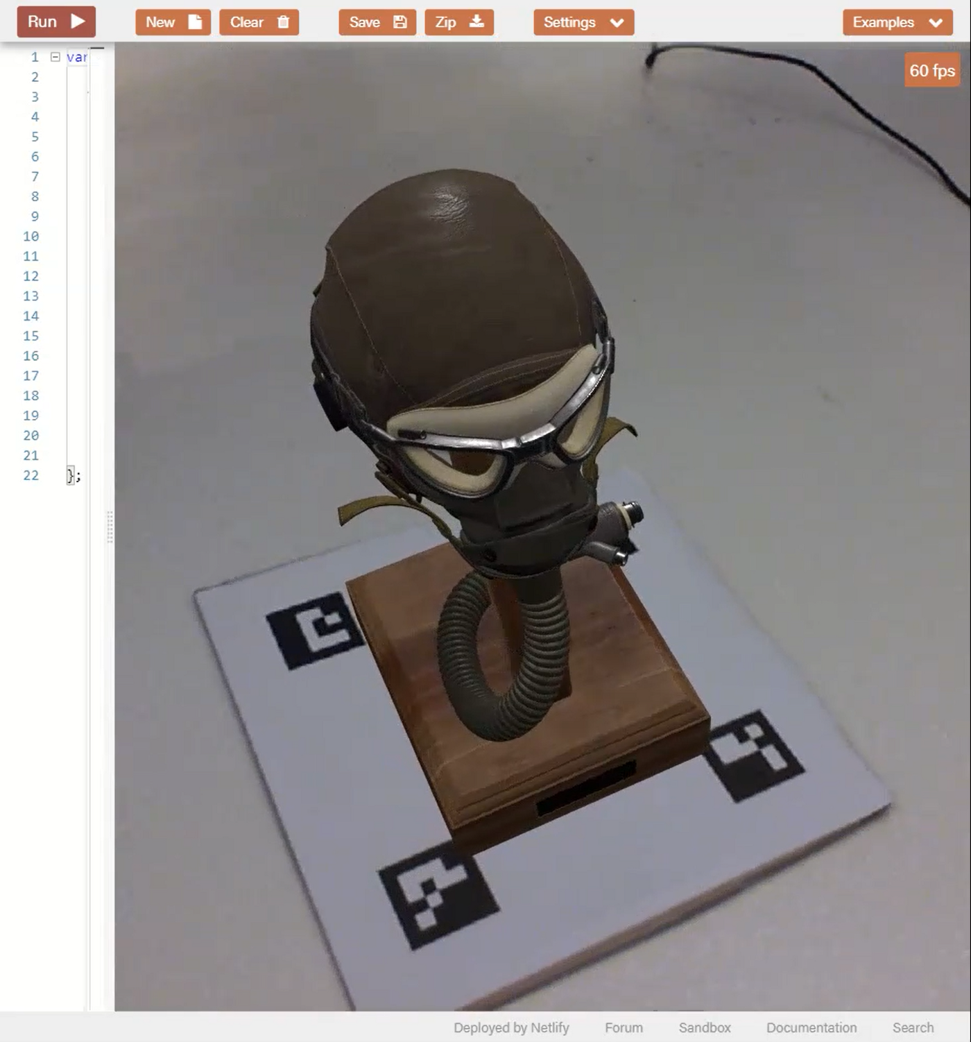 A photo of Fred the object tracking algorithm in action.