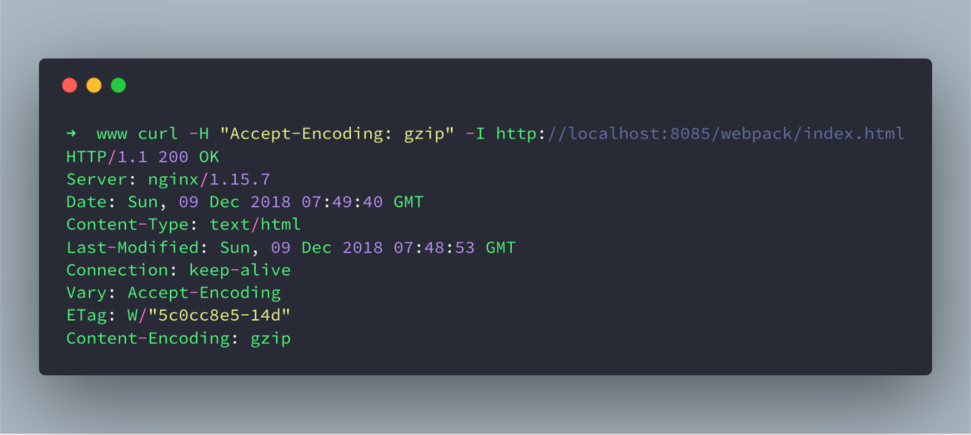 How to serve webpack gzipped file in production using nginx