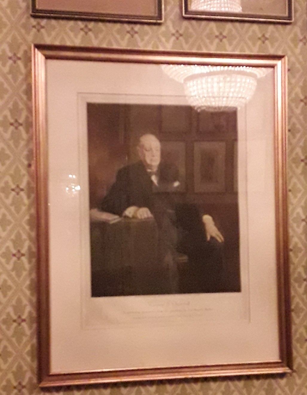 In the Venue hands a portrait of Winston Churchill, a man whose enlightened image is finally being challenged, as evidence of