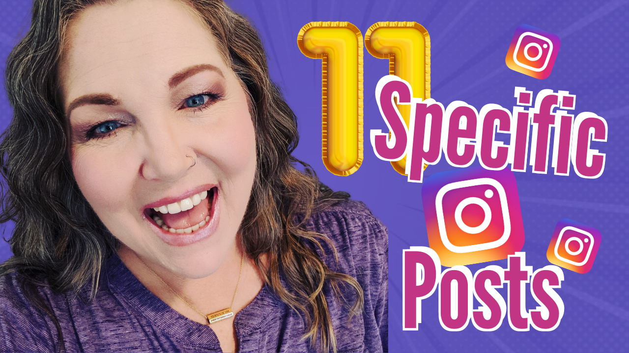 11 specific post for Instagram Suzanne Perkins M