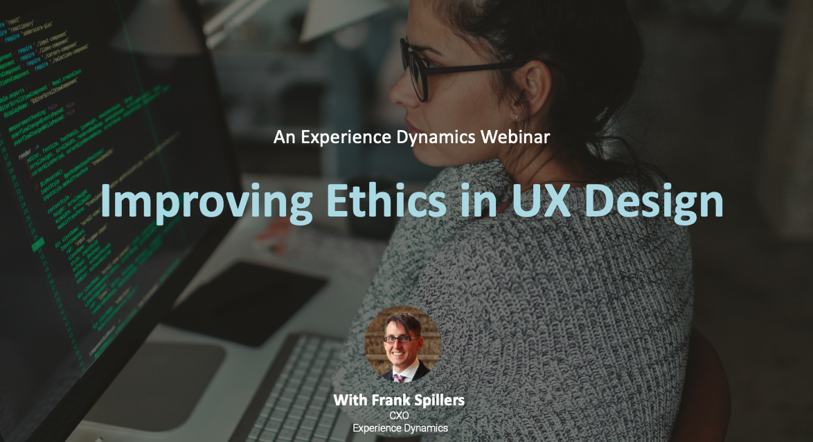 improving ethics in ux design woman looking at screen