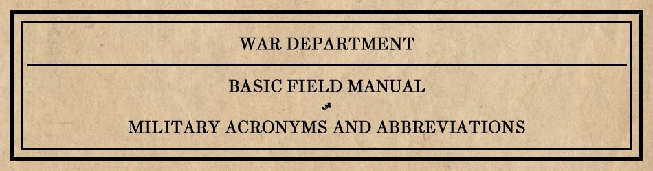 Adjutant Advice 2 Ask What The Acronyms Mean