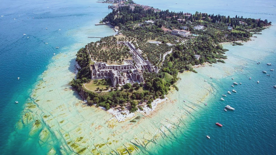 A view from the sky of Sirmione
