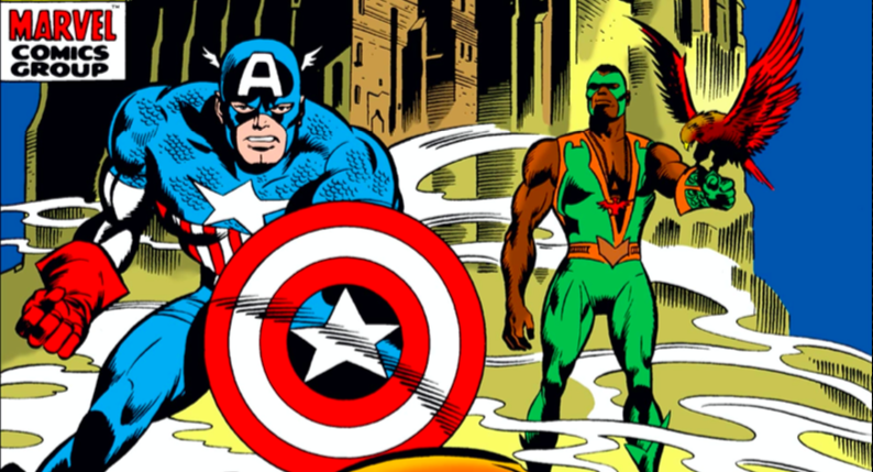 Captain America and Falcon with Redwing