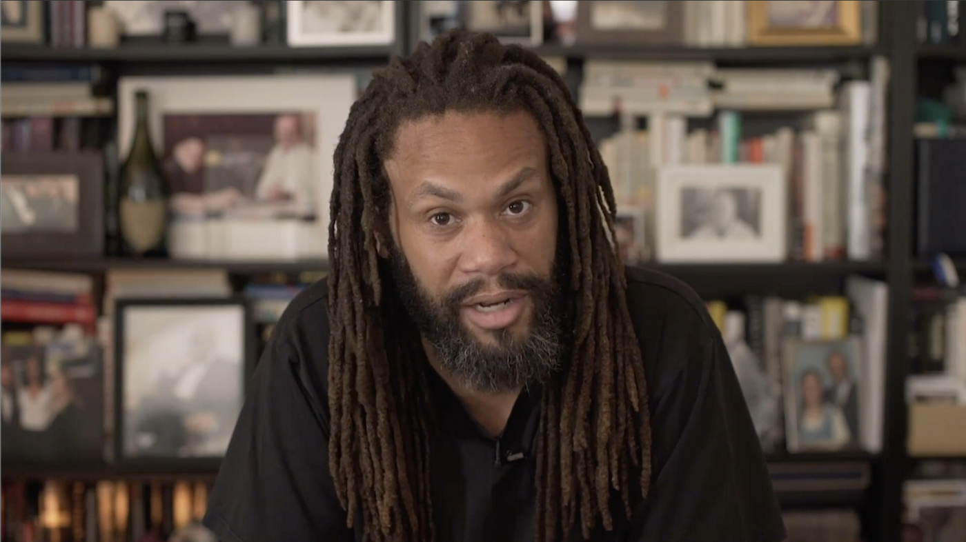 Franklin Leonard, founder of The Black List, delivers the July 8, 2020, Chautauqua Lecture on CHQ Assembly from his home in Southern California.