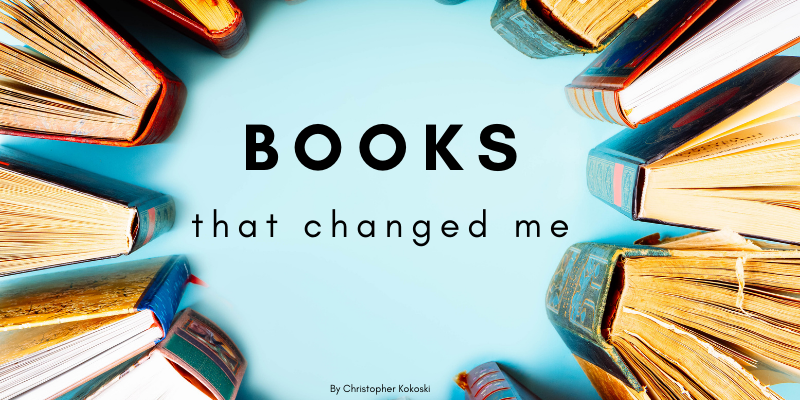 Books surround the title of the article—5 books that actually changed my life