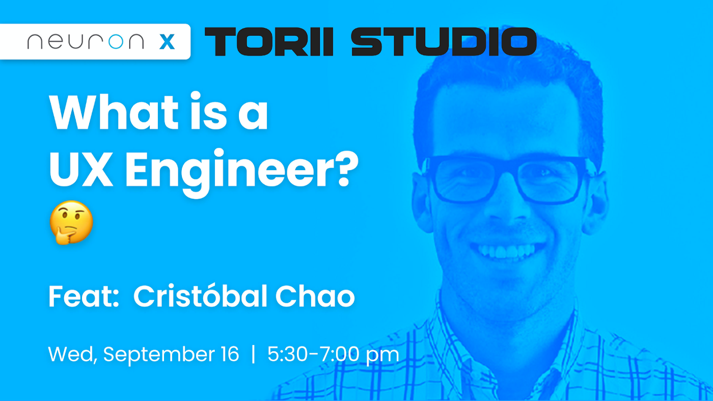 As part of their Beer and UX series, Neuron hosted Cristóbal Chao to chat about his journey as a UX engineer.